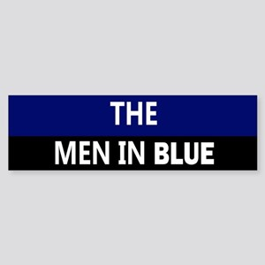 respect the men in blue Bumper Sticker