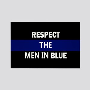respect the men in blue Magnets