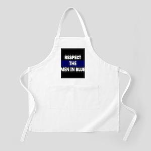 respect the men in blue Apron