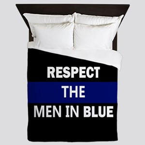 respect the men in blue Queen Duvet