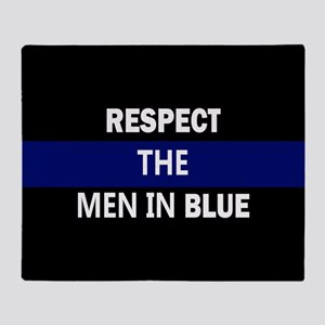 respect the men in blue Throw Blanket