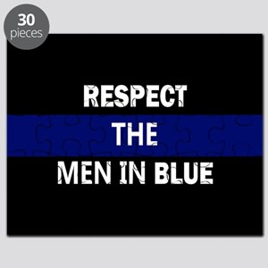 respect the men in blue Puzzle