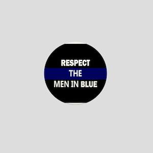 respect the men in blue Mini Button