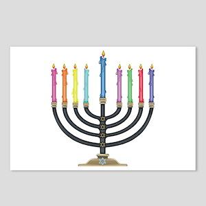 Happy chanukah hebrew postcards cafepress postcards package of 8 m4hsunfo