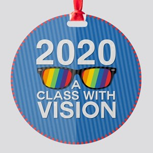 2020 A Class With Vision, Rainbow Ornament