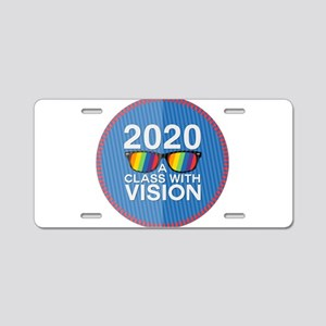 2020 A Class With Vision, Rainbow Aluminum License