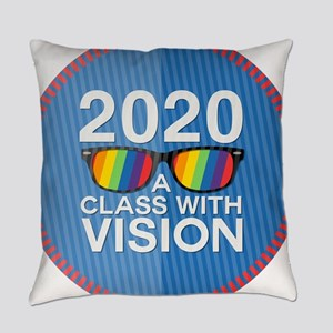 2020 A Class With Vision, Rainbow Everyday Pillow