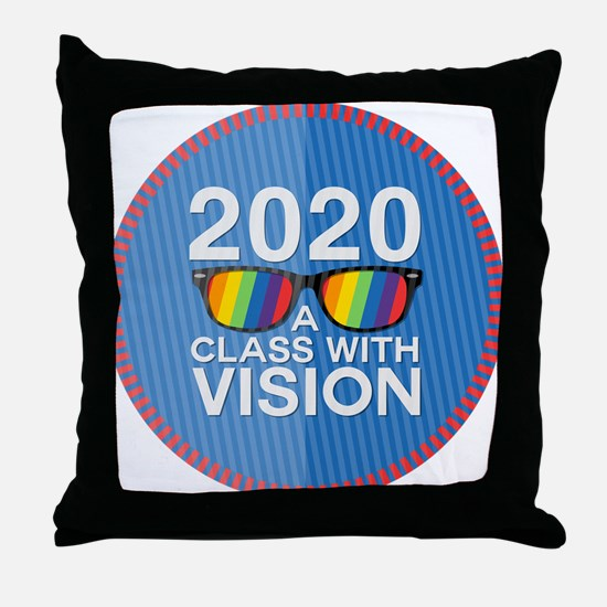 2020 A Class With Vision, Rainbow Throw Pillow