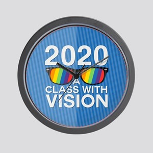 2020 A Class With Vision, Rainbow Wall Clock