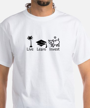Live Learn Invest original tee T-Shirt