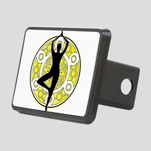 Yoga Pose tree ornamental Rectangular Hitch Cover