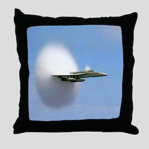 F18 Hornet - Sound Barrier Throw Pillow