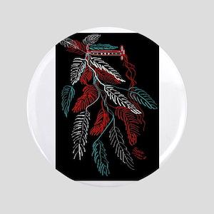 Headdress American Indian/tatoo art/black backgrou