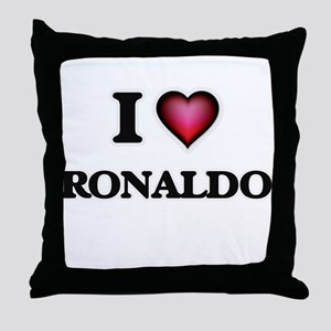 I love Ronaldo Throw Pillow