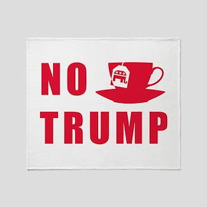 NO Trump Tea Party Throw Blanket