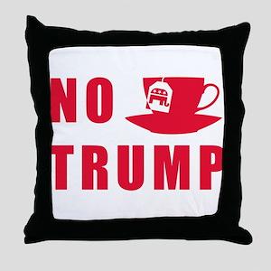 NO Trump Tea Party Throw Pillow