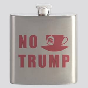 NO Trump Tea Party Flask