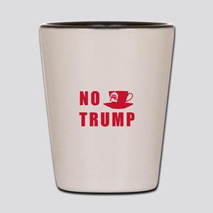 NO Trump Tea Party Shot Glass