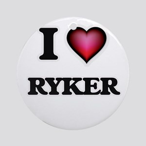 I love Ryker Round Ornament