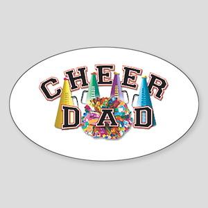 Cheer Dad Oval Sticker