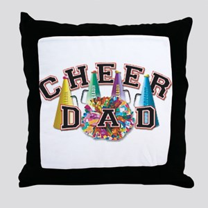 Cheer Dad Throw Pillow