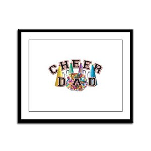 Cheer Dad Framed Panel Print