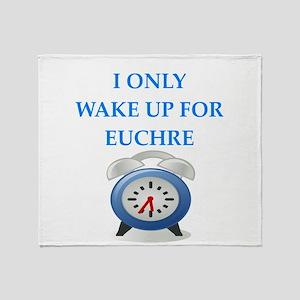 euchre Throw Blanket