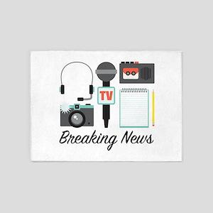 Breaking News 5'x7'Area Rug