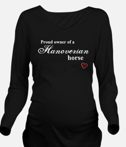 Hanoverian horse Long Sleeve Maternity T-Shirt