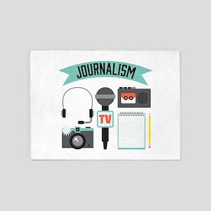 Journalism 5'x7'Area Rug