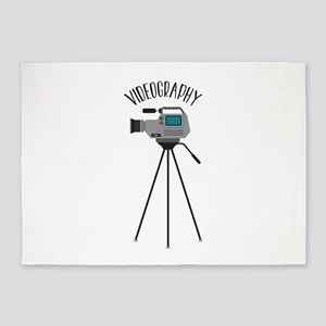 Videography 5'x7'Area Rug