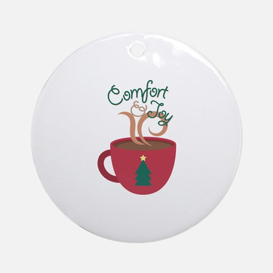 Comfort & Joy Round Ornament