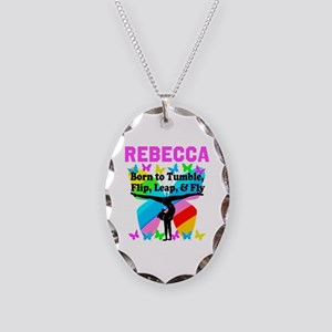 GYMNAST CHAMP Necklace Oval Charm