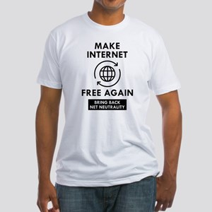 Make Internet Free Again Fitted T-Shirt