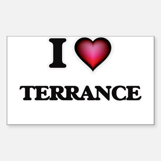 I love Terrance Decal