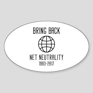 Bring Back Net Neutrality Sticker (Oval)