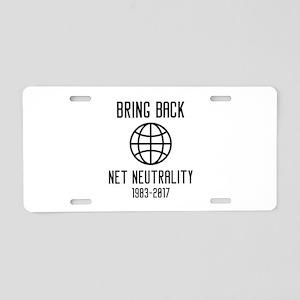Bring Back Net Neutrality Aluminum License Plate