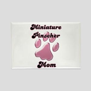 Min Pin Mom3 Rectangle Magnet