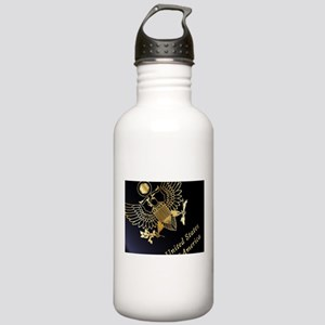 USA Passport Closeup Stainless Water Bottle 1.0L