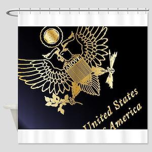 USA Passport Closeup Shower Curtain