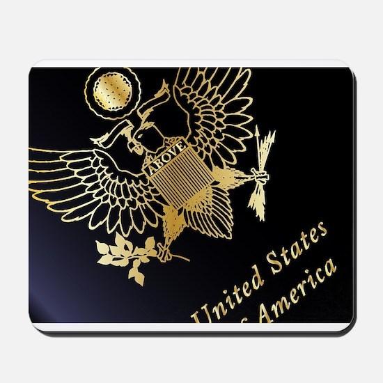 USA Passport Closeup Mousepad