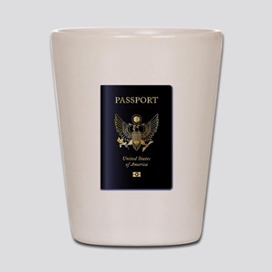 United States of America Passport Shot Glass
