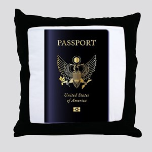 United States of America Passport Throw Pillow