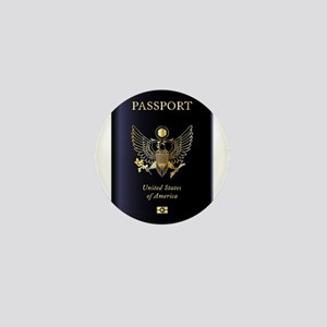 United States of America Passport Mini Button