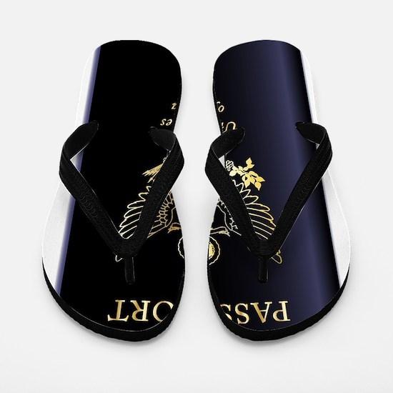 United States of America Passport Flip Flops
