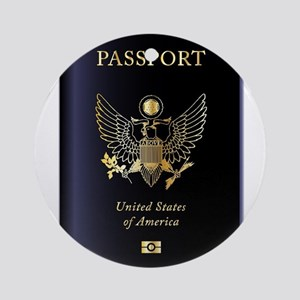 United States of America Passport Round Ornament