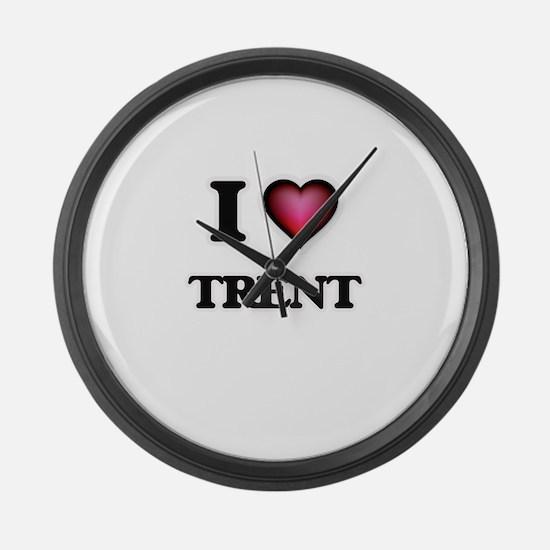 I love Trent Large Wall Clock