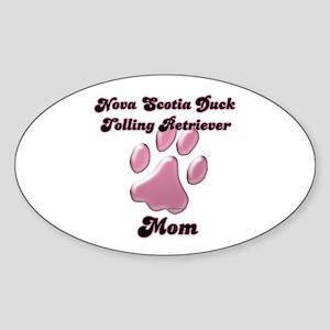 Toller Mom3 Oval Sticker