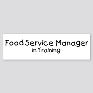 Food Service Manager in Train Bumper Sticker