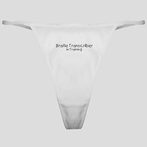 Braille Transcriber in Traini Classic Thong
